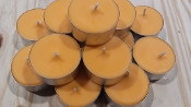 25 pack UNSCENTED TEALIGHTS with COLOR